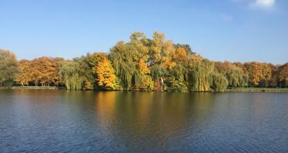 Nowa Huta Jesienią nad Zalewem